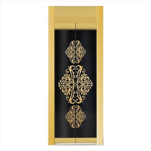 Automatic Decorative Elevator Door with Glass